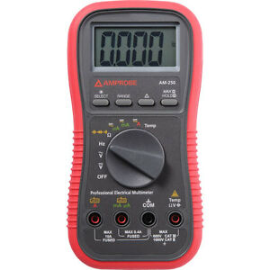 Amprobe Am 250 Auto manual Professional Electrical Multimeter Acdc 1000v Max