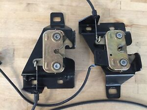 Jaguar X100 Xkr Xk8 97 06 Both Hood Lock Cables And Lock Latches W Mounts