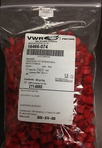 Red Cap For Microcentrifuge Tubes With O ring 16466 074