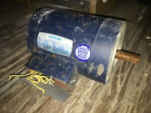Leeson Electric Motor 3 4 Hp 1140 Rpm 208 230 460 Volts 3 Phase