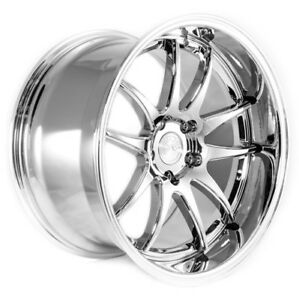 Aodhan Ds02 18x9 5 10 5 5x114 3 Et22 Vacuum Chrome Staggered Wheel Set
