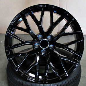 Audi R8 Mesh Style 20x9 5x112 Et33 Gloss Black Wheels Set Of 4 Rims
