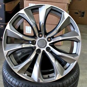 Bmw X6 Style 22x10 11 5x120 Gunmetal Machined Face Wheels Fit E53 X5 Set Of 4