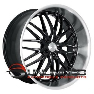 Mrr Gt1 22x9 10 5 Et35 40 5x114 3 Black Ml Wheels Rims Fit Ford Mustang 2005