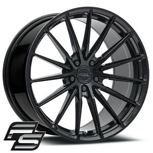 Mrr Fs02 19x10 11 Black Flow Forged Staggered Wheels Fit Mustang V6 Shelby Gt500