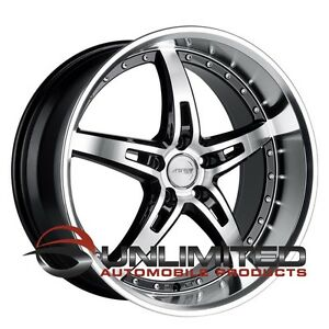 Mrr Gt1 20x8 5 10 Et35 30 5x114 3 Black Ml Wheels Rims Fit Ford Mustang 2005