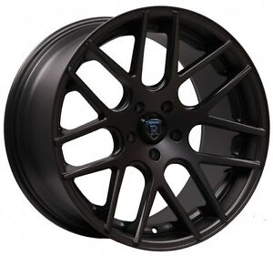 Rohana rc26 20x9 10 5x114 Et32 40 Matte Black Wheels Fit Ford Mustang Boss 302