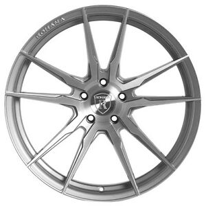 Rohana Rf2 20x9 10 5x114 Et25 25 Brushed Titanium Wheels Fit Nissan 370z Nismo