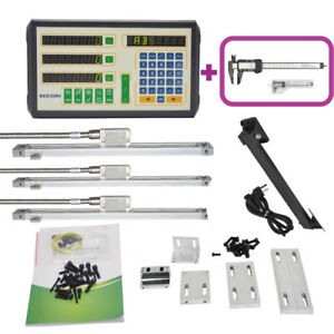 3 Axis Dro digital Readout Magnetic Scale Kit For Milling lathe Machine Usa