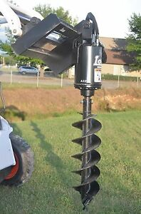 Bobcat Skid Steer Attachment Lowe Bp210 Round Auger With 12 Bit Ship 199