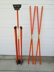 Traffix Devises Safety Folding Sign Support Stand And 2 Signs