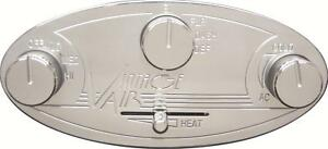 Vintage Air Control Panel Aluminum Natural Gen Ii Streamline In dash Oval Kit