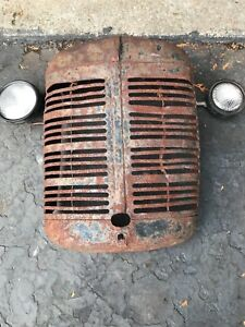Rare Industrial steampunk Farmall Case Sign Vintage Tractor Grill W Lights