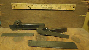 Lot 2 Lathe Cut Off Tool Holders 4 Cut Off Blades Armstrong Williams Tool Po