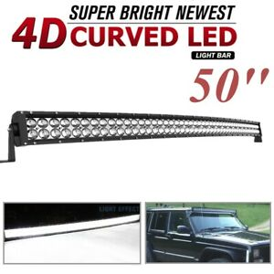 22inch Led Light Bar Spot Flood Offroad Amber White Fog Lamp Wiring Atv 4wd Suv