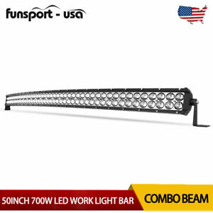 50inch 700w Led Light Bars Flood Spot Combo Roof Driving Truck Boat Suv 4wd 52