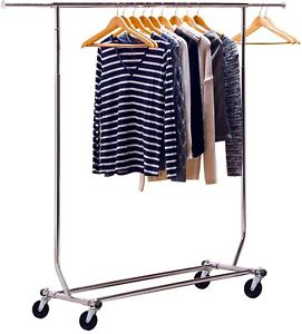 Clothing Garment Rack Clothes Drying Dry Hanger 250 Lbs Load Heavy Duty Steel