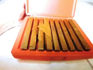 Tool Steel Parallel Set 3 4 To1 3 4 High X 1 4 Thick X 6 Long 9 Pairs