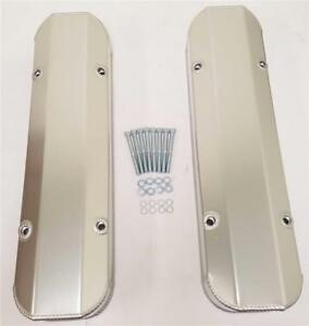 Pontiac Anodized Fabricated Aluminum Tall Valve Covers Billet Rail 326 400 455