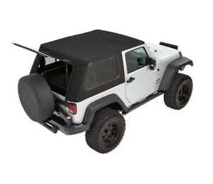 Bestop Trekto Pro Hybrid Top For 2007 2016 Jeep Wrangler Jk 2 Dr 54852 17 Black