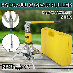3in1 5 Ton Hydraulic Gear Puller Pumps Oil Tube 3 Jaws 45 Steel Drawing Machine