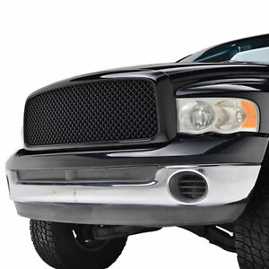 2002 2005 Dodge Ram 1500 2500 3500 Grille Abs Front Hood Glossy Black Mesh