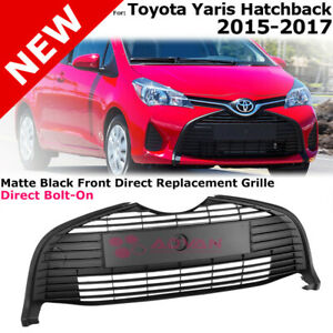 Front Lower Grille For 15 18 Toyota Yaris Hatchback Bottom Insert Matte Black