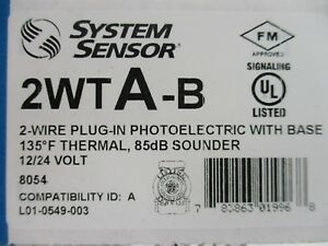 new System Sensor 2wta b 2 wire Photoelectric Smoke Detector