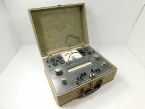 Heathkit Tc 2 Vintage Vacuum Tube Tester Checker For Parts Restoration