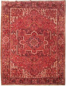 10x14 Durable Trendy Persian Handmade Rug Heriz