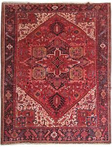 10 X 14 Persian Rug Gorgeous Hand Knotted Soft Heriz Rug
