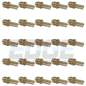 25 Pack 1 4 Hose Id To 3 8 45 Male Flare Straight Brass Fitting Fuel air wog