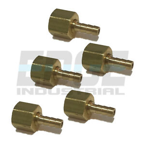 (5 PACK) 18 HOSE ID TO 18 FEMALE NPSM SWIVEL BRASS ADAPTER FITTING W GASKET