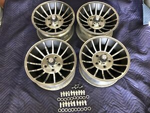 4 Vintage 15x7 Turbine Hurricane Vector Mag Wheels Gm 4 3 4 Pattern Chevy Pont