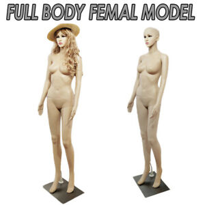 Full Body Female Adult Model W Arm Ladies Mannequin Window Display Holder Props