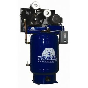 15 20 Hp 3 Phase 120 Gallon Vertical Air Compressor By Eaton