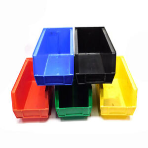 lot Of 5 Akro mils 30 240 Assorted Color Stacking Storage Bins 14 75 x8 25 x7