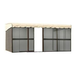 Patiomate 10 panel Screen Enclosure 09165 Brown With Almond Roof