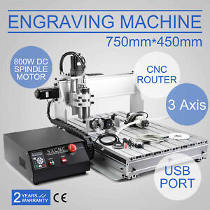 3 Axis Engraver Usb Cnc6040z Router Engraving Drilling Milling M