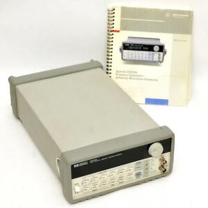 Hewlett Packard 33120a 15mhz Function arbitrary Waveform Generator As is dim