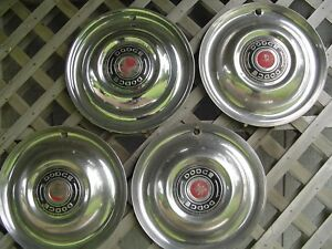 Vintage 1951 51 Dodge Coronet Meadowbrook Royal Hubcaps Wheel Covers Center Caps