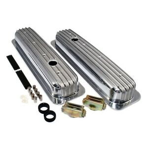 Aluminum Valve Covers Short Style Retro Vortec Tbi Finned Small Block Chevy 350