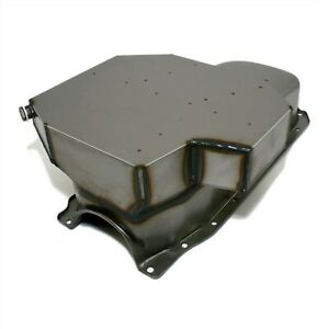 Raw Champ Style Oil Pan Small Block Chevy 350 8qt 86 1 Piece Rear Main Vortec