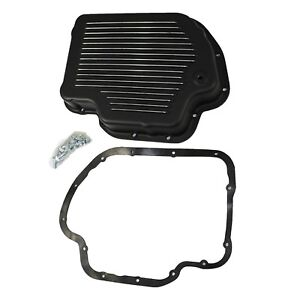 Black Aluminum Transmission Pan Kit Gm Chevy Turbo 400 Th400 W Bolts Gasket