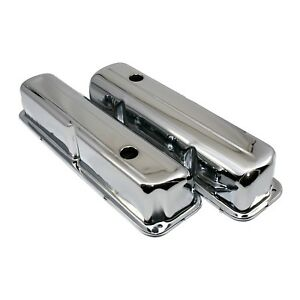 Chrome Plated Valve Covers 1957 1976 Ford Fe Big Block 352 390 406 427 428