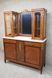 French Louis Xv Goldfield Burled Marble Top Bar Sideboard Server Cabinet Buffet
