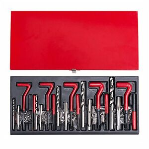 131pcs Stripped Thread Rethread Helicoil Repair Kit Set Metric M5 M6 M8 M10 M12