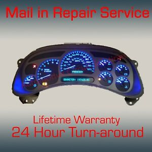 03 07 Gm Chevrolet Sierra Silverado Instrument Gauge Cluster Full Repair Service