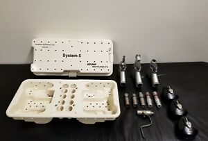 Stryker System 5 Set Sagittal Rotary Recip Pin Col Attachments 3 Battery