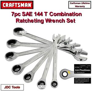 Craftsman 7 Pc Sae Inch Ratcheting Combination Wrench Set 144 Position 8 10